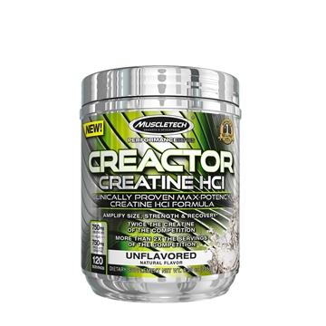 Снимка на Muscletech® Creactor™ - Creatine HCl- Unflavored- Креатин Хидрохлорид - Увеличава размера, силата и възстановяването