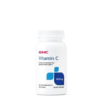 Снимка на GNC Vitamin C 500  mg / Витамин С 500 мг - Засилва имунитета при настинка и грип