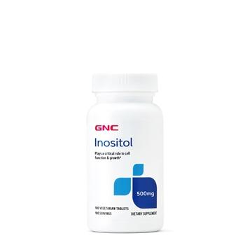 Снимка на GNC Inositol 500 mg / Инозитол 500 мг (Витамин В8) - Поддържа нормалната концентрация на холестерол в кръвта