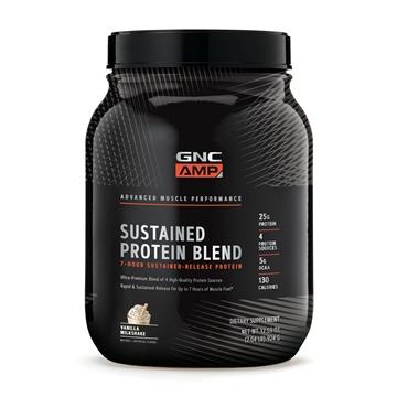 Снимка на GNC AMP Sustained Protein Blend- Vanilla  Milkshake/ Сустейнд Протеин Бленд - Протеин с 7 часово бавно освобождаване