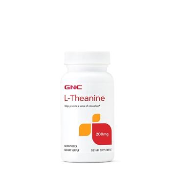 Снимка на GNC L-Theanine 200 mg/ Л- Теанин 200 мг - При тревожност и безсъние
