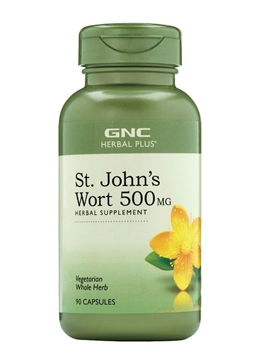 Снимка на GNC Herbal Plus ® St. John`s Wort 500 mg / Жълт Кантарион 500 мг - Природен антидепресат