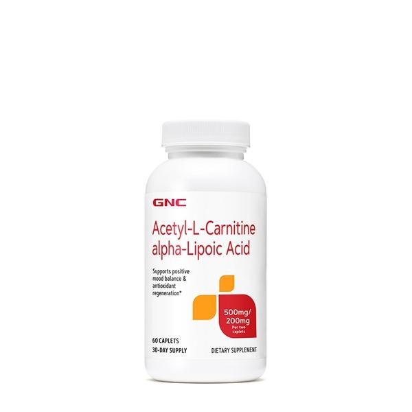 Picture of GNC Acetyl-L-Carnitine Alpha-Lipoic Acid / Ацетил Л-карнитин + Алфа- липоева киселина - Подкрепа и защита на фукционирането на мозъка